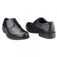 Premium Bata Leather Oxford Formal Shoes - Black-8246665 6