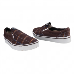 Stylish Bata Slip-on Canvas Shoes Brown 10