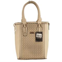 Ladies Handbag-Silver-Marie Claire-Multiple compartments-Beige- (9802007)