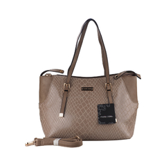 Ladies Handbag-Beige-Multiple Compartments (9808102) -