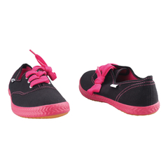 Ladies Casual-Tomy Takkies-Smart Fitting Canvas-Black and Red Black and Red 3