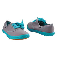 Ladies Casual-Tomy Takkies-Smart Fitting Canvas (5292901) - Grey and Blue 3