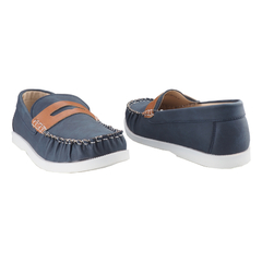 Boys Casual- Loafer with  a fashionable detail-Grey Dark Blue 11