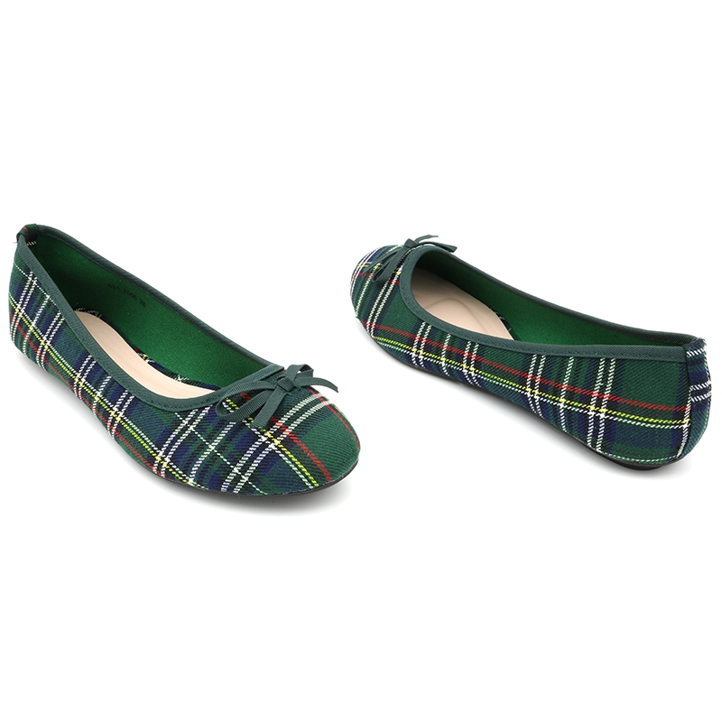 Trendy Scottish Tartan Ballerinas by Bata