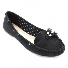 BATA CLASSIC LADIES CASUAL FLAT SHOES Black (5536027) 4
