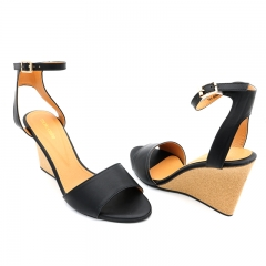 Ladies Casual-WedgeSandals-7616044 Black 3