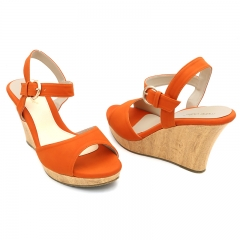 Ladies Casual-WedgeSandals-7618081 Orange 3