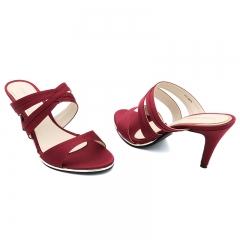 Ladies Casual-Heel Sandals- Red-77115015 3