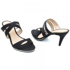 Ladies Casual-Flat Sandals Brown- Black- 7716015 3
