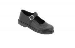 Bata Toughees Stylish Girls' Velcro School Shoes black 2