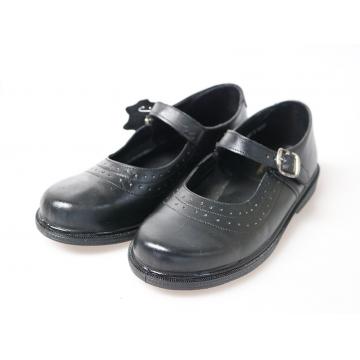 Bata Toughees Stylish Girls' Velcro School Shoes black 1