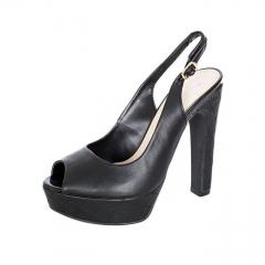 BATA Black Ladies' Peep-Toe Heels 7616198 black 39