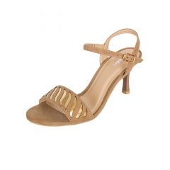 BATA Beige Ladies Heeled Sandals 7618076 Nude 5
