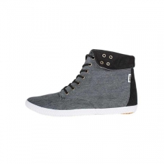 TOMY TAKKIES Charcoal and Black Canvas Sneakers 5092064 grey 8