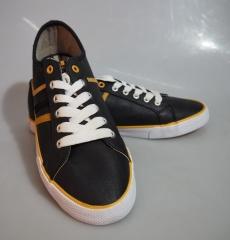 BATA Northstar Fashion Sneakers- 881-6078 Black &orange 43