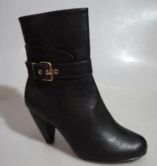 Bata women short boot- 701-6033 black 39