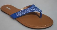 BATA Ladies Blue Studded Sandal- 571-9089 blue 37