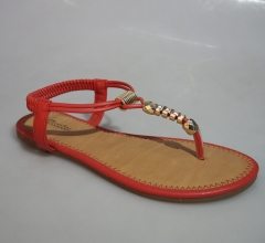 BATA Ladies Classy Sandal- 561-5024 brown, orange strap 37