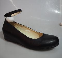 Bata Ladies Formal Shoe with low wedge- 761-6078 black 38