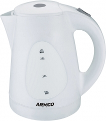 Armco AKT-173LED Plastic Cordless Kettle with 1 year warranty white