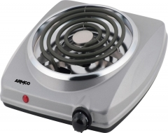 ARMCO -C10(S) Spiral Electric Hot Plate 1 Burner, Silver Grey