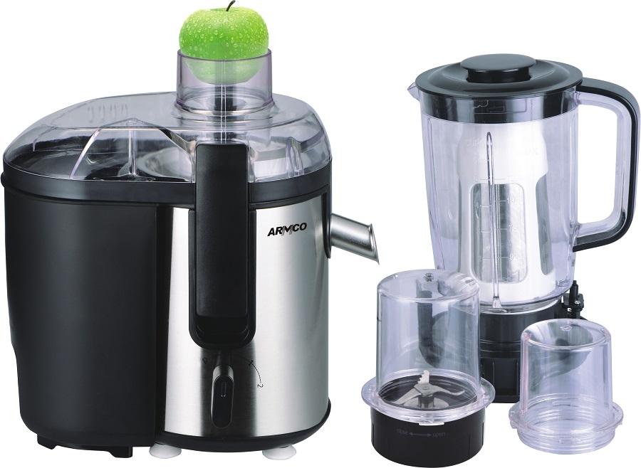 ARMCO  5-in-1 Juicer, Blender, Grinder Mill, Mincer, Filter, Soya milk maker,  AJB-900(SS), Stainless Steel 1