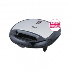 ARMCO AST-T2000 - 2 Slice Sandwich Maker - Black & Silver
