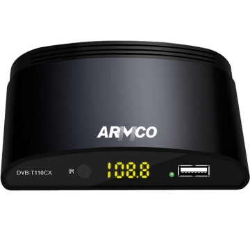 ARMCO DVB-T110CX - Set Top Box - Free to Air - Black