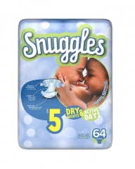 SNUGGLES BABY DIAPERS JUNIOR (SIZE 5) JUMBO PACK 64'S