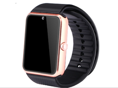 2016 Smart Watch GT08 Clock Sync Notifier Support Sim Card Bluetooth Connectivity  Android Phone black one size
