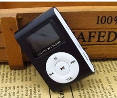Sport MP3 Music Player with LCD Screen Metal Mini Clip Multicolor Portable with Micro TF/SD Card black