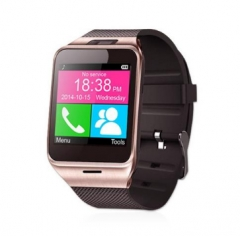 2016 SmartWatch GV18 Support Micro SIM Card NFC Communication Bluetooth 3.0 Clock 550mAh Battery black one size