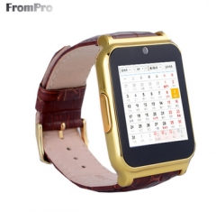 W90 Bluetooth Smartwatch Leather Business Knight Full View HD Screen For Android IOS phone gold one size