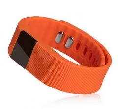 Smart Band Fitness Tracker Wristband TW64 Smartband Sports Bracelet for Android iOS Smartphone orange one size