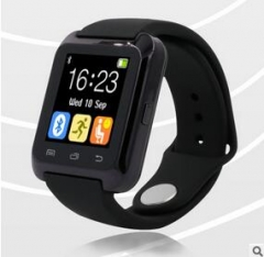 Bluetooth Smart U80 Watch BT-notification Anti-Lost MTK WristWatch for Android Phone black one size