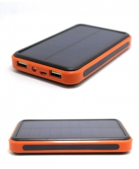 Waterproof 20000mah solar power bank External battery Charger Backup Bateria charger for mobile