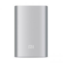Original Xiaomi Power Bank 10000mAh Mi External Battery Bank Portable Charger Powerbank silver 10000