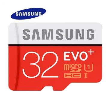 SAMSUNG Memory Card 32G SDHC SDXC TF80M Grade EVO+ MicroSD Class 10 Micro SD C10 UHS TF Trans Flash orange Micro SD 32GB