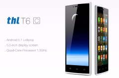 Original THL T6C 5.0 Inch Cell Phone MTK 6580 Quad Core 1.3GHZ Android 5.1 GSM/WCDMA Dual SIM black