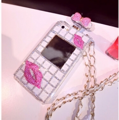 Women fashion luxury lip perfume bottle phone case for iphone for samsung multicolor for iphone 4