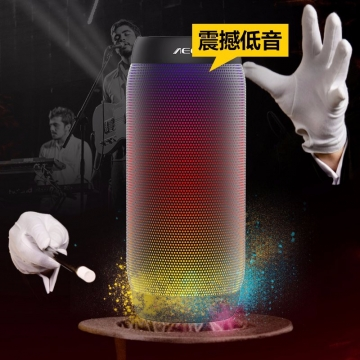 AEC colorful Waterproof Bluetooth Speaker Wireless NFC Super Bass Subwoofer Outdoor Sport Sound Box black one size