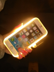 2016 LED Flash light Case Selfie Phone Back Cover Shell Cases Illuminated For iphone for samsung black for iphone 5/5s