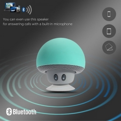 Wireless Mini Bluetooth Speaker Portable Mushroom Waterproof Stereo for Mobile Phone sky blue one size