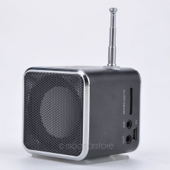 TD-V26 Portable Micro SD TF USB Mini Speaker Music Player Portable FM Radio Stereo mp3 phone Laptop black one size