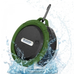 C6 Waterproof Outdoor Bluetooth Speaker TF Wireless Music Loudspeaker Portable Speakers Shower green one size