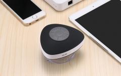 Cute Mini Bluetooth Speaker Triangle Waterproof With Sucker Portable Wireless Speaker black one size