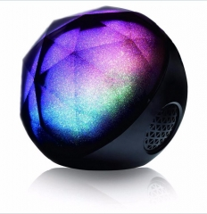 Stylish Color Ball Bluetooth Speaker Wireless Portable Speaker For Smartphone Tablet black one size
