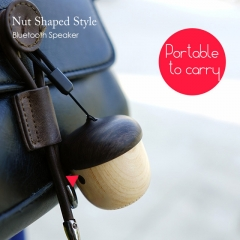 Original JS Nuts Bluetooth Stereo Speaker Wood outdoor Nuts Portable Loudspeaker Js nuts one size