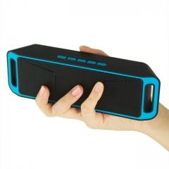 SC208 Wireless Speaker Bluetooth 4.0 Caixa De Som Stereo Subwoofer Speakers blue one size