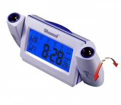 double voice-activated projection personality electronic mute alarm clock lounged projection clock blue one size